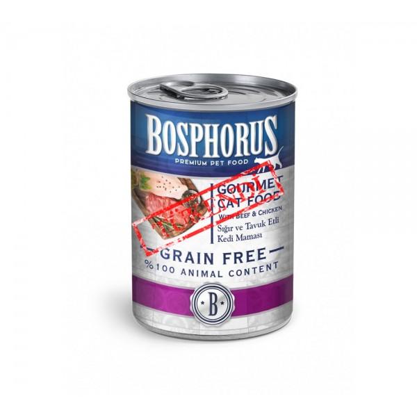 BOSPHORUS GOURMET CAT FOOD GURME (SIĞIR VE TAVUK ETLİ) KEDİ MAMASI