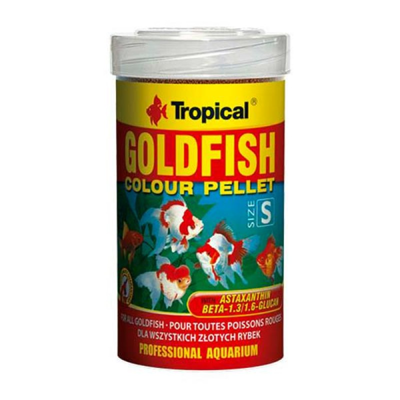 Tropical GoldFish Colour Pellet Size S 100ml
